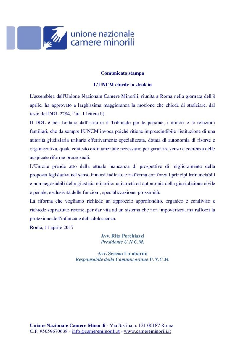 comunicato stralcio riforma giustizia-001