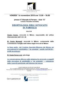 locandina 16nov.2018 deontologia dell'avvocato di famiglia-001